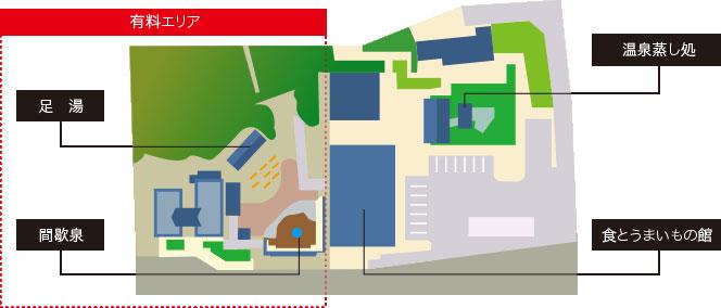 しかべ間歇泉公園マップ
