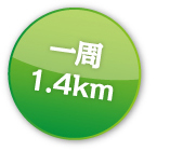 一周1.4km