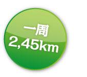 一周2.45km